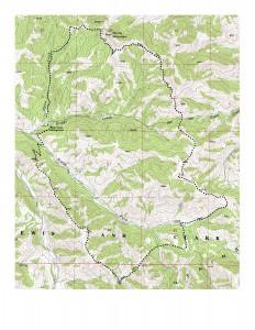 Highwoods MTB Loop Contour Map